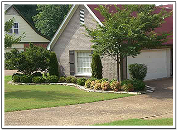 Light Brick Home with Nice Landscaping Work